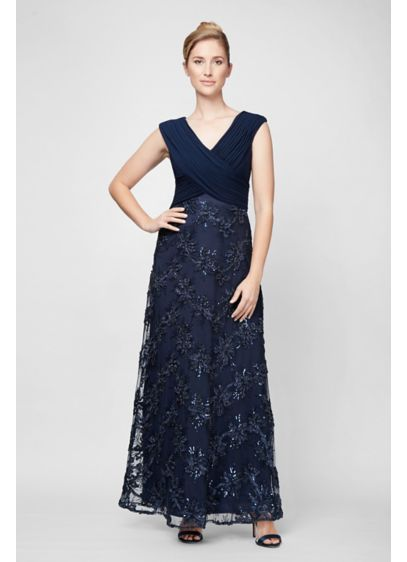 Long Ballgown Cap Sleeves Formal Dresses Dress - Alex Evenings