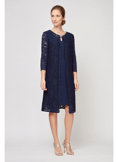 Short A-Line Capelet Mother and Special Guest Dress - Alex Evenings