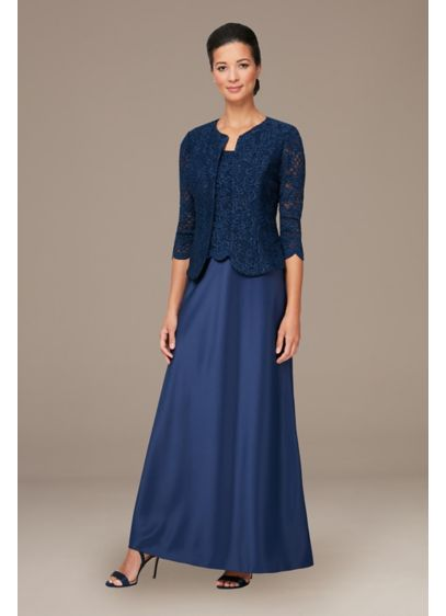 Long 0 3/4 Sleeves Formal Dresses Dress - Alex Evenings