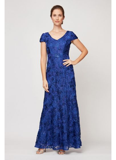 Long A-Line Cap Sleeves Formal Dresses Dress - Alex Evenings