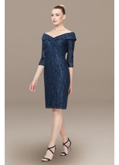 Short Sheath Cocktail and Party Dress - Alex Evenings