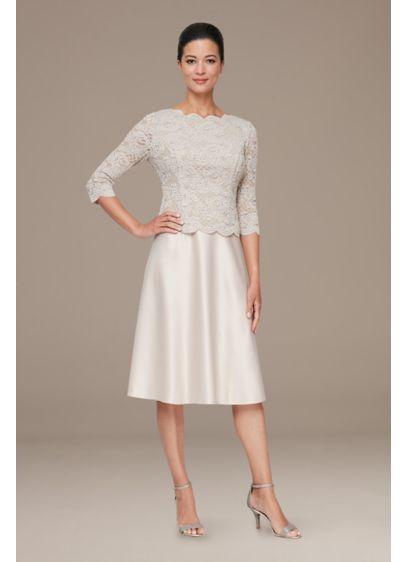 Short 0 3/4 Sleeves Dress - Alex Evenings
