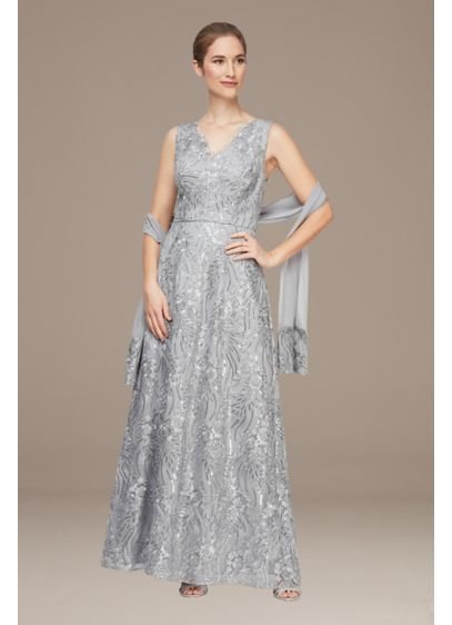 Long 0 Sleeveless Cocktail and Party Dress - Alex Evenings