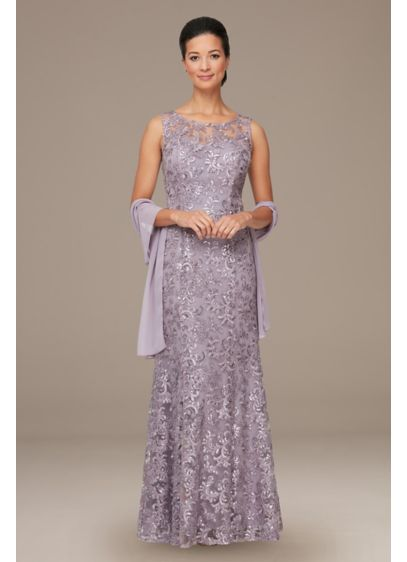 Long Sheath Cocktail and Party Dress - Alex Evenings