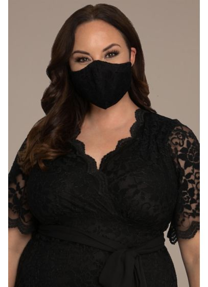 Lace Face Mask with Adjustable Loops - This lovely lace face mask makes safe social