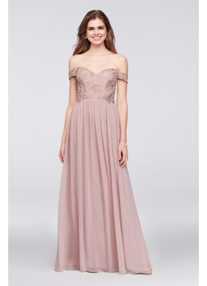 Long Pink Soft Flowy City Triangles Bridesmaid Dress
