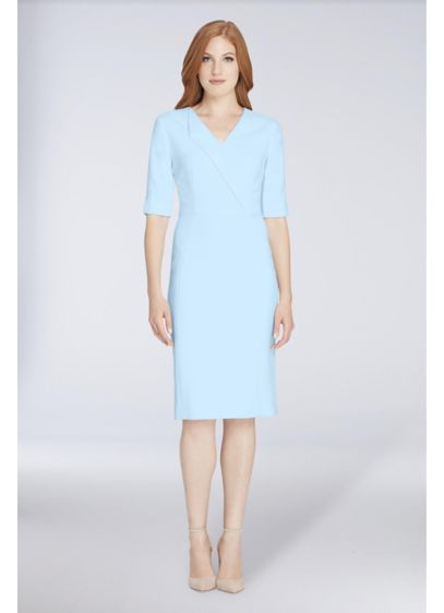 Short Sheath 3/4 Sleeves Cocktail and Party Dress - Tahari ASL