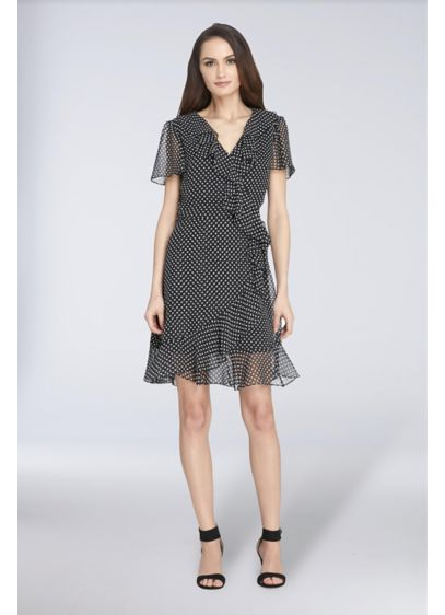 Short A-Line Short Sleeves Cocktail and Party Dress - Tahari ASL