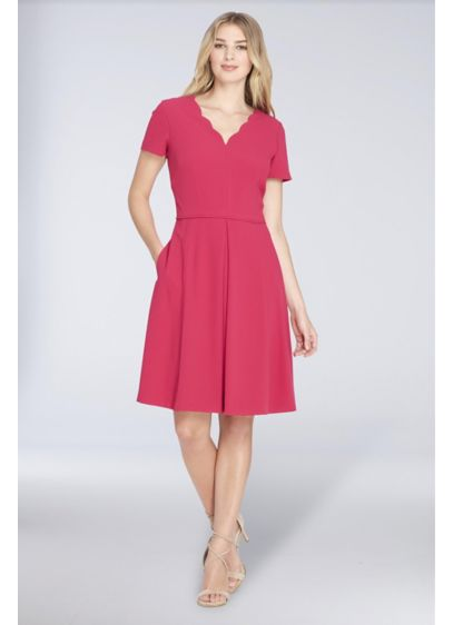 Short A-Line Tank Cocktail and Party Dress - Tahari ASL
