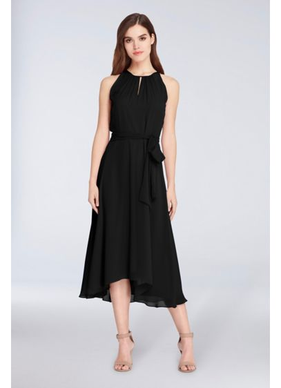 Short A-Line Halter Cocktail and Party Dress - Tahari ASL