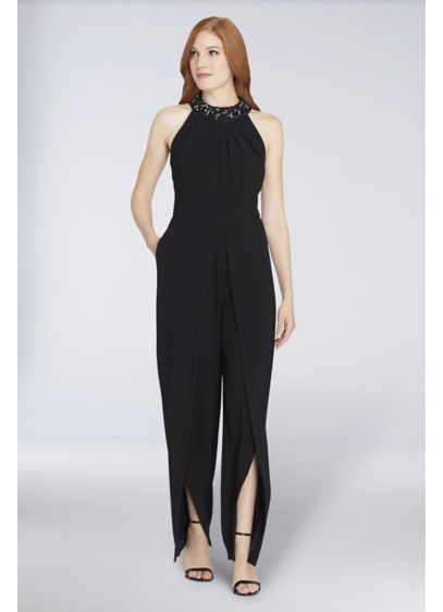 Long Jumpsuit Halter Cocktail and Party Dress - Tahari ASL