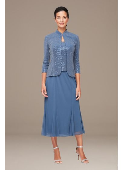 Midi 0 Long Sleeves Mother and Special Guest Dress - Alex Evenings