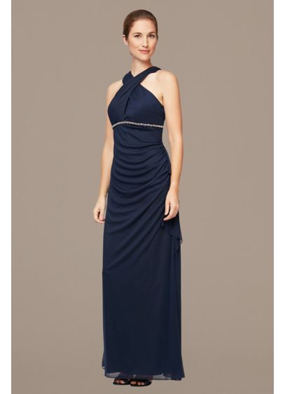 Long A-Line Halter Formal Dresses Dress - Alex Evenings