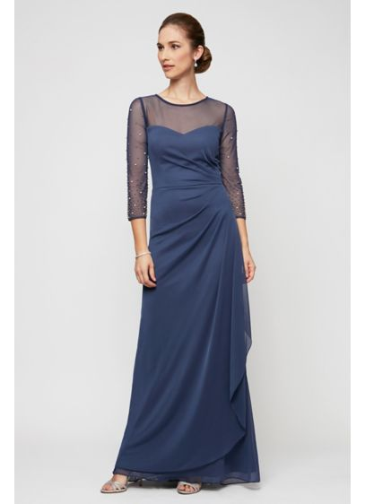Long Sheath Elbow Sleeves Formal Dresses Dress - Alex Evenings