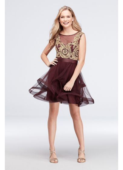 Short Ballgown Tank Cocktail and Party Dress - City Triangles