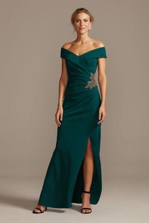 Long Mermaid/ Trumpet Off the Shoulder Dress - Alex Evenings