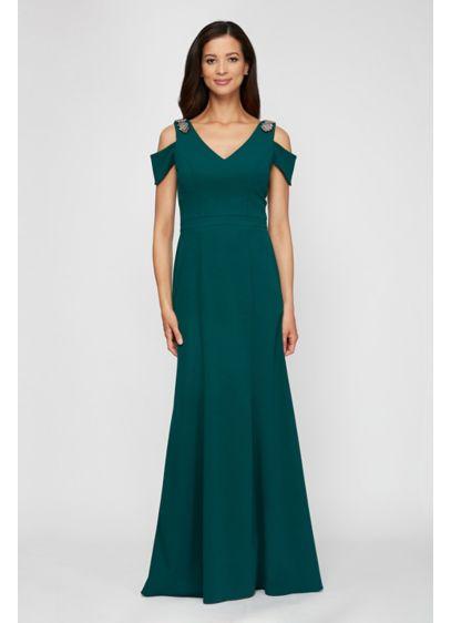Long Mermaid/ Trumpet Off the Shoulder Formal Dresses Dress - Alex Evenings