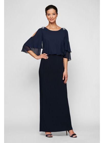Long Sheath 3/4 Sleeves Formal Dresses Dress - Alex Evenings