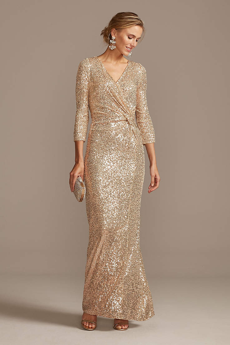 Long Gold Dresses  Davids Bridal