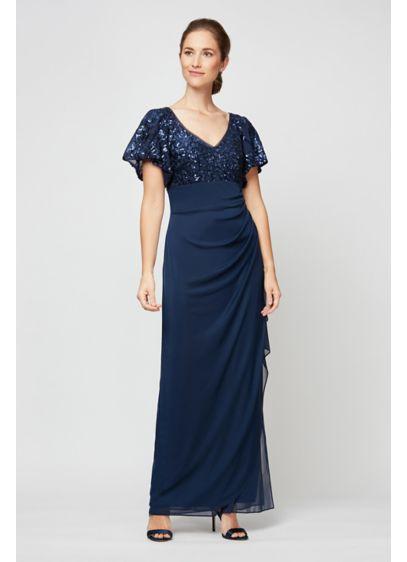 Long Sheath Short Sleeves Formal Dresses Dress - Alex Evenings