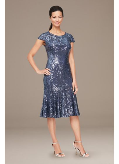 Z-other Fit and Flare Cap Sleeves Dress - Alex Evenings