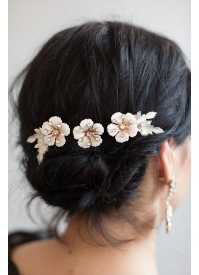 Sugar Blossom Hair Pin Set - Wedding Accessories