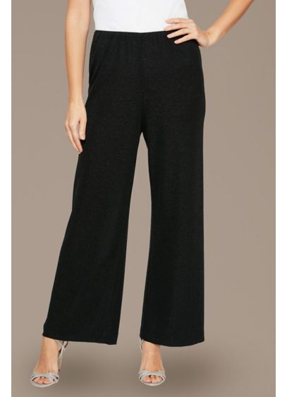Metallic Knit Wide Leg Petite Pants - A timeless (and effortless!) pair of soft and