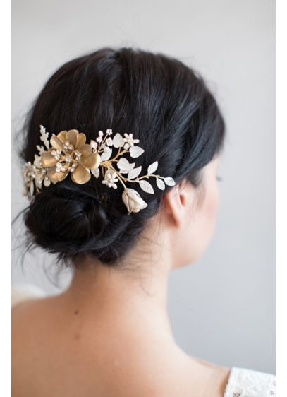 Decadent Floral Daydreams Comb - Wedding Accessories