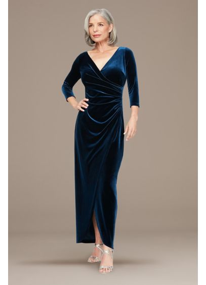 Long 0 3/4 Sleeves Holiday Dress - Alex Evenings