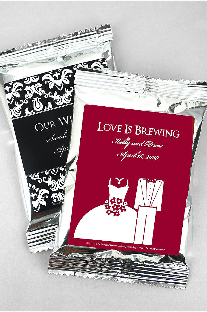 DB Exclusive Personalized Wedding Coffee Favors - These coffee wedding favors bring a dramatically different