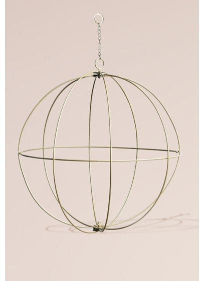 Gold Wire Sphere Chandelier - Add an elegant and sophisticated touch to your