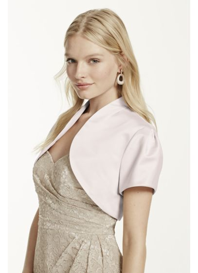 Short Sleeve Satin Bolero - Wedding Accessories