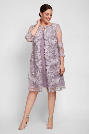 Short Sheath Jacket Dress - Alex Evenings
