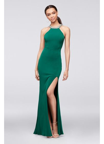 Long Sheath Halter Formal Dresses Dress -