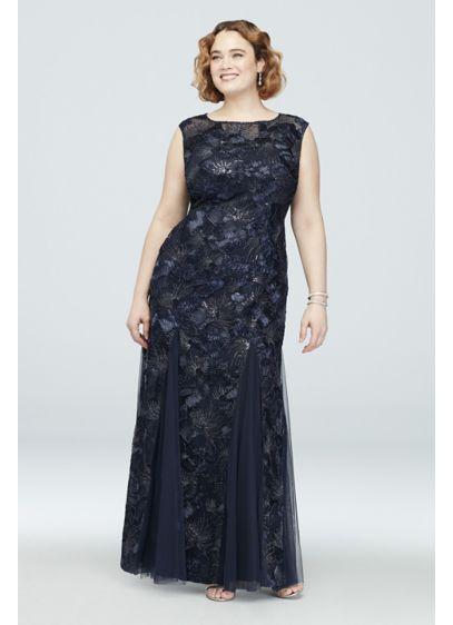 Long Mermaid/Trumpet Cap Sleeves Formal Dresses Dress - Alex Evenings