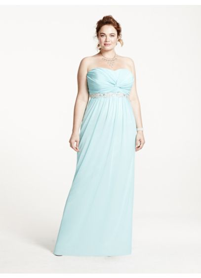 Long A-Line Strapless Cocktail and Party Dress - City Triangles