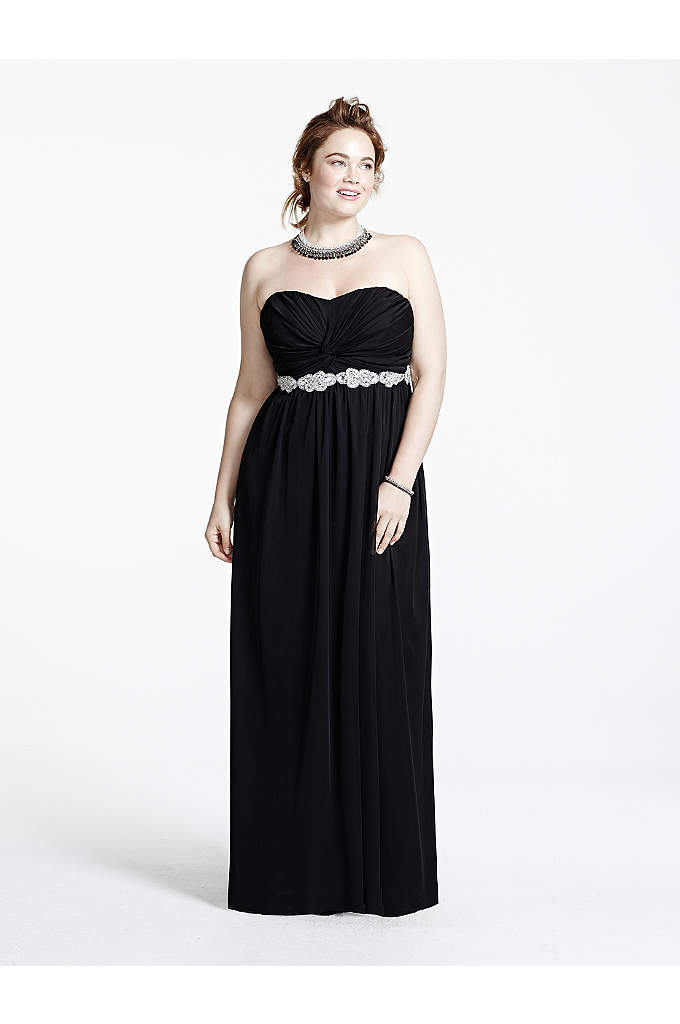 Ruched Strapless Bust Prom Dress with Beading