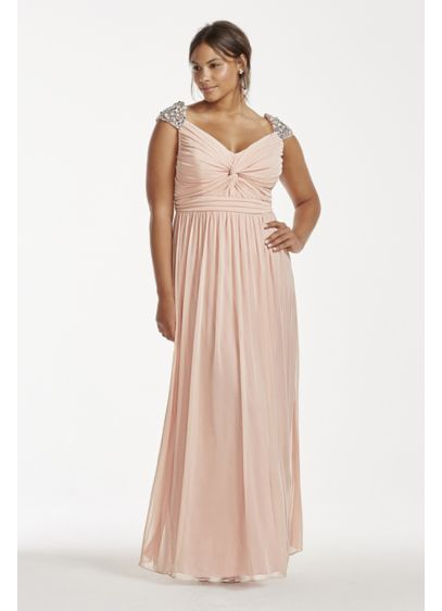 Long Pink Soft & Flowy City Triangles Bridesmaid Dress