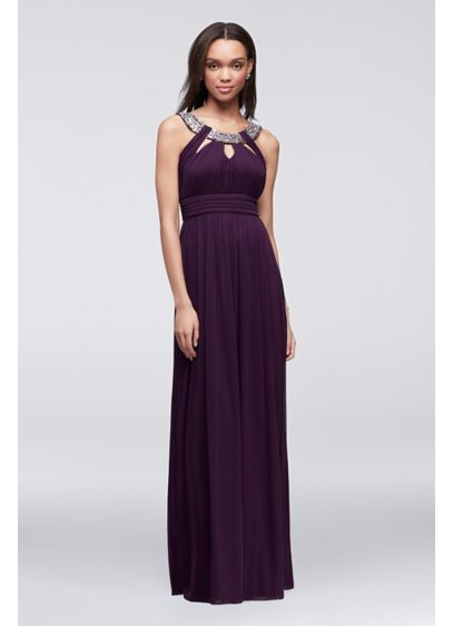 Long A-Line Halter Formal Dresses Dress - City Triangles