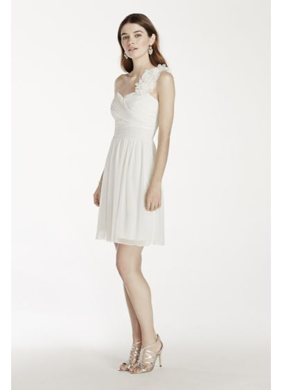 Short Sheath One Shoulder Cocktail and Party Dress - City Triangles
