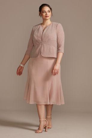 Tea Length Sheath Jacket Dress - Alex Evenings