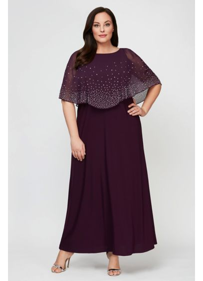 Long 0 Capelet Formal Dresses Dress - Alex Evenings