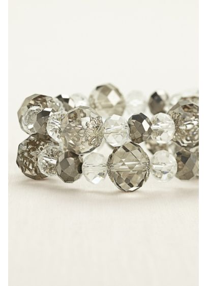 Two Tone Crystal Bead Bracelets - Wedding Accessories