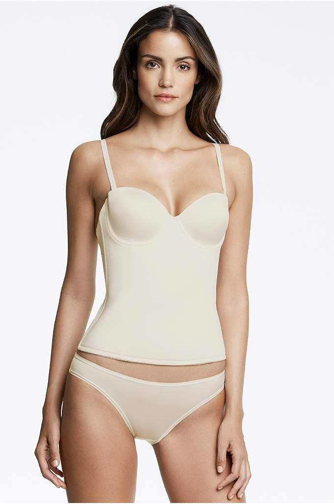 Dominique Paige Strapless Seamless Longline Bra - This soft, silky seamless longline bra features a