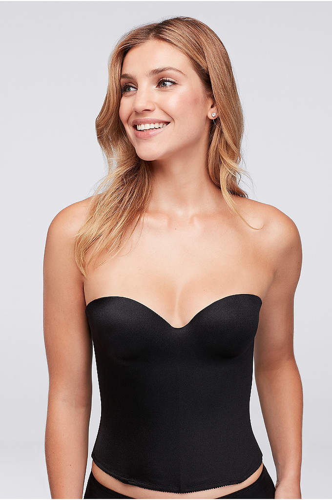 Dominique Molded Seamless Longline Bra - Made of seamless, breathable microfiber, this molded-cup, corset-style