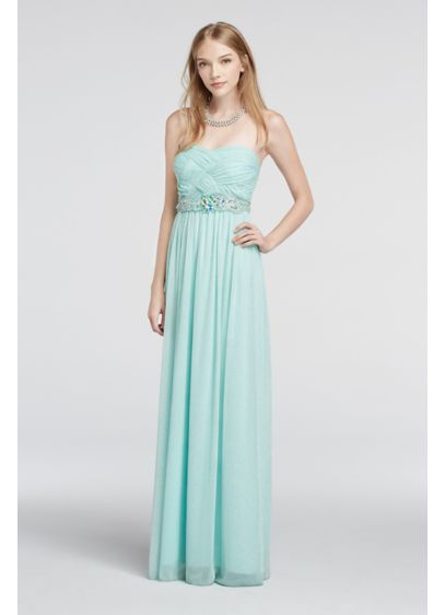 Long A-Line Strapless Formal Dresses Dress - City Triangles