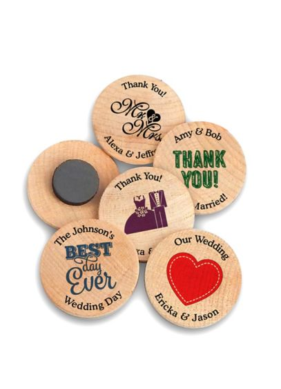 Personalized Wooden Magnets - Wedding Gifts & Decorations