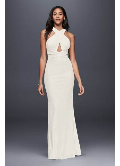 Long Sheath Casual Wedding Dress - JS Collections
