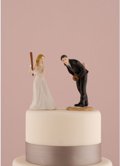 Hit a Home Run Baseball Cake Topper - Wedding Gifts & Decorations