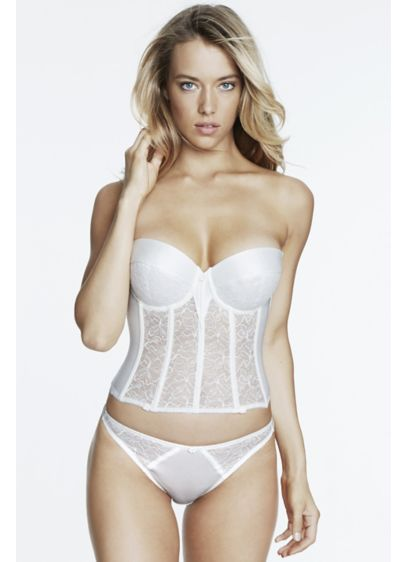 Dominique Ivory (Dominique Giselle Strapless Lace Longline Bra)